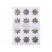 Meri Meri 120 Sticker GLITZERSTERNE Silber Sparkle