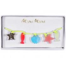 Meri Meri Armband MEERESTIERE neon