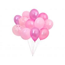 Meri Meri 12 LUFTBALLONS pink