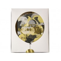 Meri Meri Ballon-Set mit Konfetti gold & silber