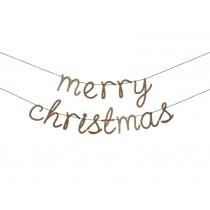 Meri Meri Girlande MERRY CHRISTMAS gold