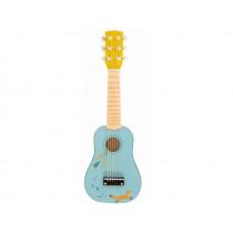 Moulin Roty Gitarre FUCHS hellblau