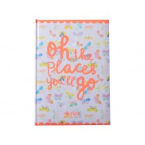 RICE Notizbuch A4 Oh the places you'll go