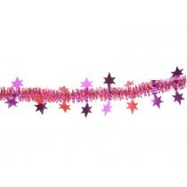 Glitzergirlande mit Sternen in rot-fuchsia von Overbeck & Friends