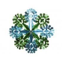 Große türkis-grüne Glitzerblume von Overbeck & Friends