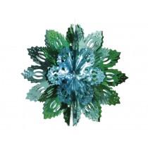Große türkis-grüne Glitzerflocke von Overbeck & Friends