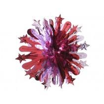 Großer rot-pinker Glitzerkristall von Overbeck & Friends