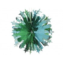 Großer türkis-grüner Glitzerkristall von Overbeck & Friends