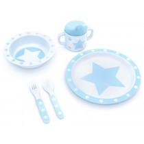 Pimpalou Melamingeschirr star hellblau