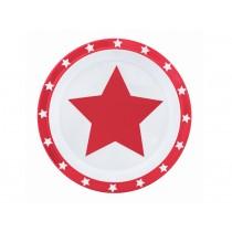 Pimpalou Anti-Rutsch Teller STERN rot