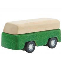 Plantoys Mini Holzauto BUS grün