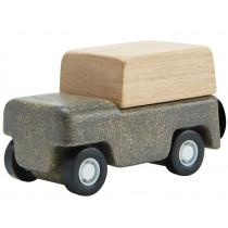 Plantoys Mini Holzauto GELÄNDEWAGEN grau