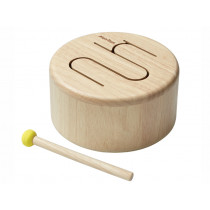 PlanToys Trommel aus Holz NATUR
