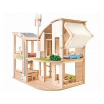 PlanToys Puppenhaus ÖKO mit Möbeln