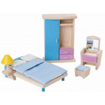 PlanToys Puppenhaus Schlafzimmer NEO