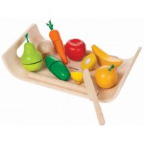 Plantoys Schneidebrett mit Obst & Gemüse