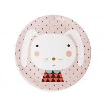 Melaminteller Hase von Petit Monkey