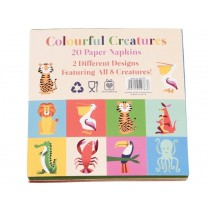 Rex London Papierservietten Colourful Creatures