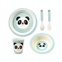 Rex London Bambus Kindergeschirr Set MIKO DER PANDA