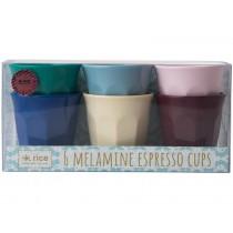 RICE Melamin Espresso Becher URBAN Farben