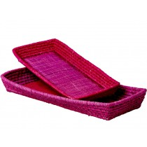 RICE 2 Brotkörbe pink/magenta