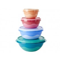 RICE Frischhaltedosen Set zweifarbig RUND