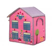 RICE Hauskorb rosa Haus