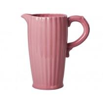 RICE Keramik Kanne rosa groß