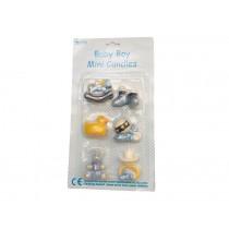 RICE Kuchenkerzen Baby blau