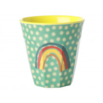 RICE Melamin Becher REGENBOGEN mint