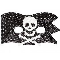 RICE Glitzermaske Pirat