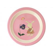 RICE Kinderteller HASE rosa