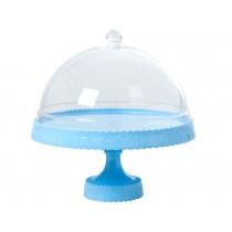 RICE Tortenplatte blau mit Glocke