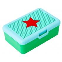 RICE Lunchbox STERNE türkis groß
