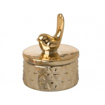 RICE Schmuckdose VOGEL gold