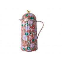 RICE Thermoskanne VOGEL Fall Floral Print braun