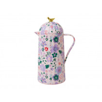 RICE Thermoskanne VOGEL Fall Floral Print pink