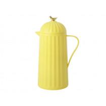 RICE Thermoskanne VOGEL gelb