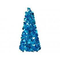 RICE Weihnachtsbaum Pailletten blau groß