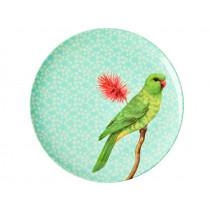 RICE Melaminteller VINTAGE BIRD mint