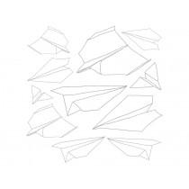 Sebra Wandsticker In the Sky Papierflieger