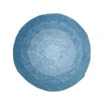 Sebra Häkelteppich gradient blau