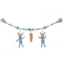 Sindibaba Kinderwagenkette Hase BOBBY blau