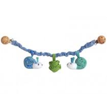 Sindibaba Kinderwagenkette Schnecke blau/grün