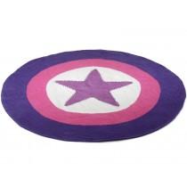 Smallstuff Teppich mit lila Stern