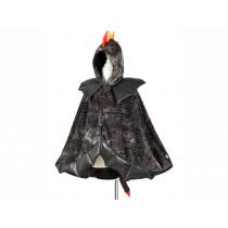 Souza Kostüm Umhang DRACHE schwarz (4-7 Jahre)