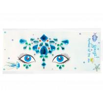 Souza Gesicht Schmuck Sticker Set MEERJUNGFRAU Blau
