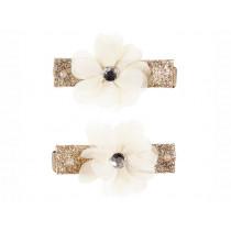 Souza Haarklammer Blume ADINA weiß