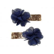 Souza 2 Haarklammern NORALIE Blüten blau