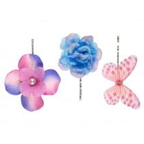 Souza 3 Haarklammern CLEO pink-blau